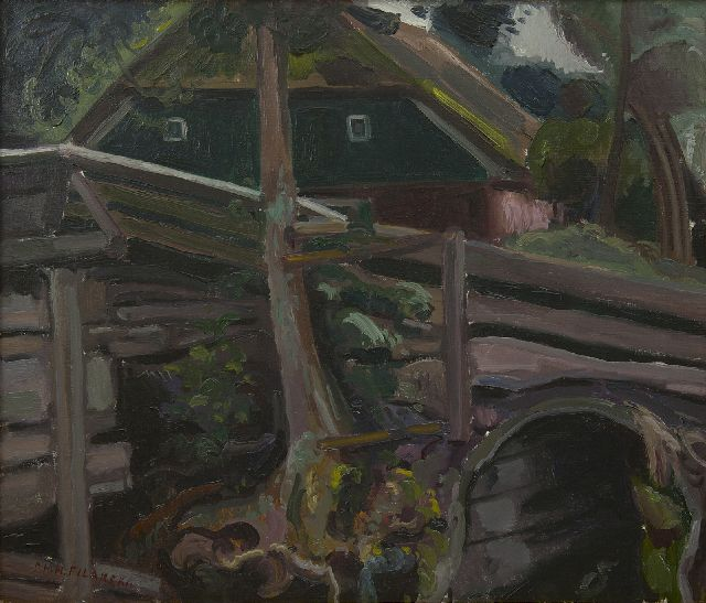 Filarski D.H.W.  | Little bridge in Giethoorn, oil on canvas 55.4 x 65.8 cm, signed l.l.