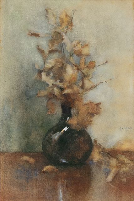 Rappard A.G.A. Ridder van | Autumn still life, watercolour on paper 65.5 x 43.0 cm, signed m.r. and dated '91