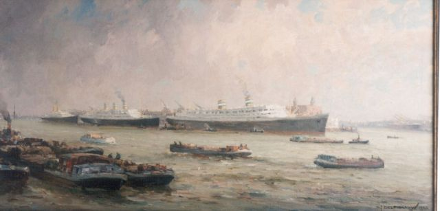 Gerard Delfgaauw | The 'Holland Amerika Lijn', oil on canvas, 60.0 x 120.5 cm, signed l.r. and dated 1940
