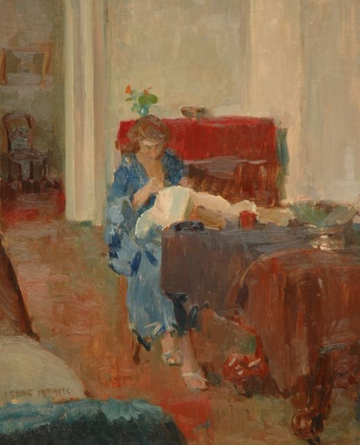 Israels I.L.  | Sophie in interior, oil on canvas, 80.0 x 65.0 cm, signed l.l.