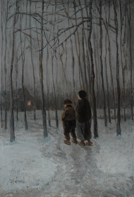 Jozef Israëls | Going home, oil on panel, 40.0 x 27.5 cm, signed l.l.