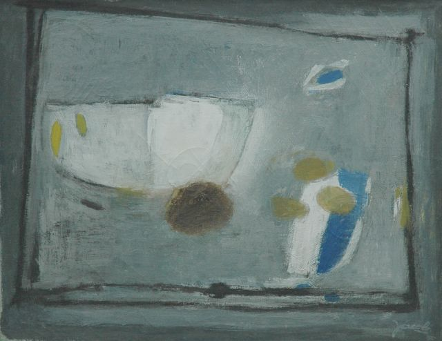 Jaap Nanninga | Composition, oil on canvas, 39.8 x 49.9 cm, signed l.r. and dated '50
