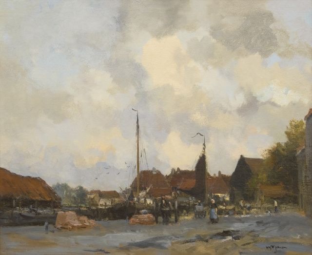 Willem George Frederik Jansen | Inner Harbour, oil on canvas, 63.0 x 76.3 cm, signed l.r.