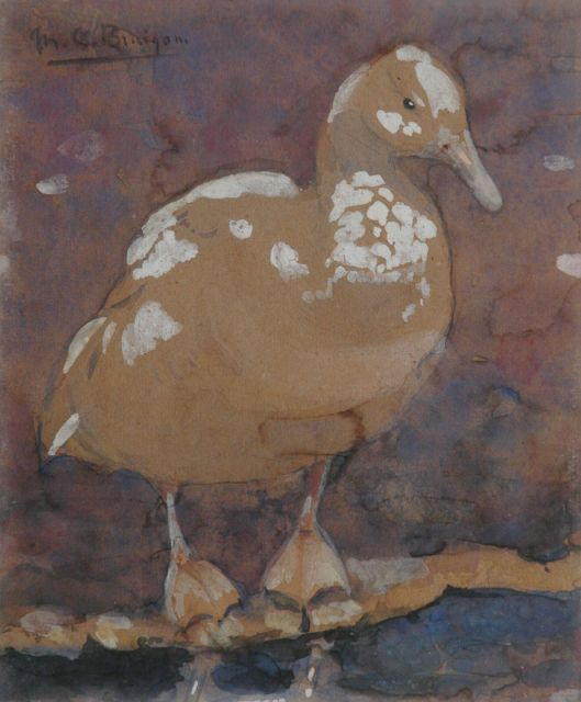 Greta Bruigom | A duck, watercolour on paper, 17.5 x 14.4 cm, signed u.l.