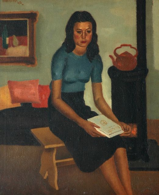 Theo Bitter | Portrait of a young lady, oil on canvas, 60.9 x 50.9 cm, signed u.l. and dated '42