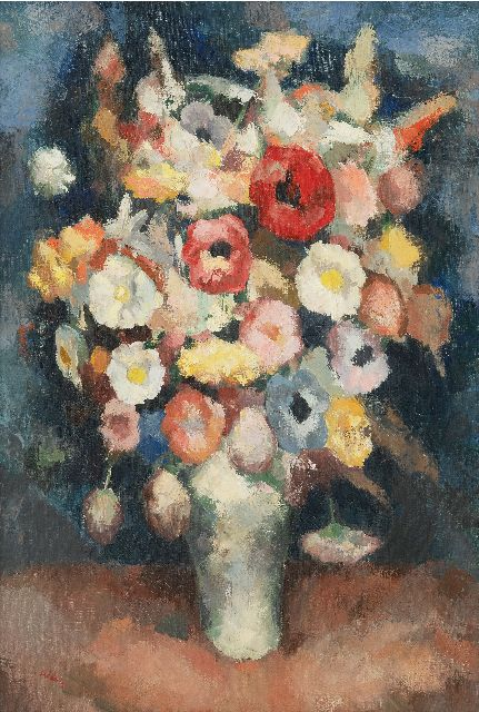 Kelder A.B.  | Fleurs, oil on canvas 57.2 x 39.4 cm, signed l.l.
