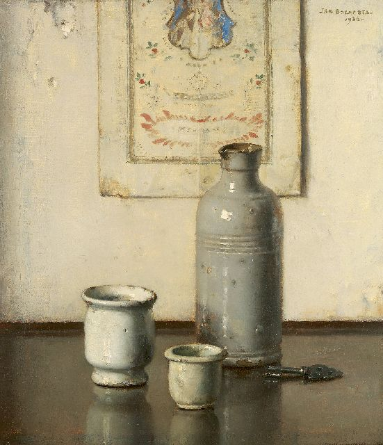 Jan Bogaerts | A still life, oil on canvas, 31.6 x 27.7 cm, signed u.r. and dated 1936