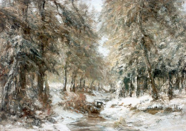Louis Apol | A winter landscape, oil on canvas, 55.0 x 76.0 cm, signed signed l.l.