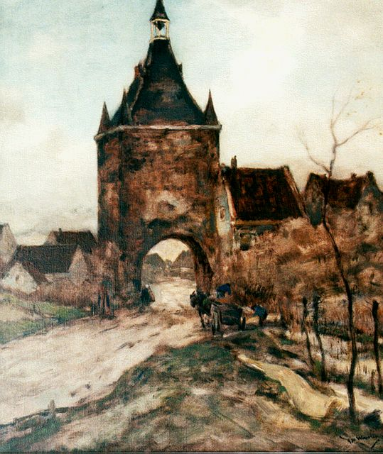 Ype Wenning | City gate, oil on canvas, 60.0 x 50.0 cm, signed l.r.