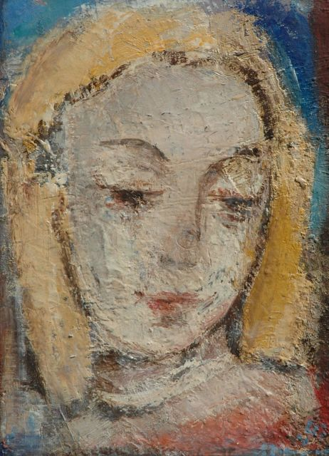 Jaap Nanninga | Portrait of a woman, oil on board, 40.4 x 29.7 cm, signed l.r. and dated '43
