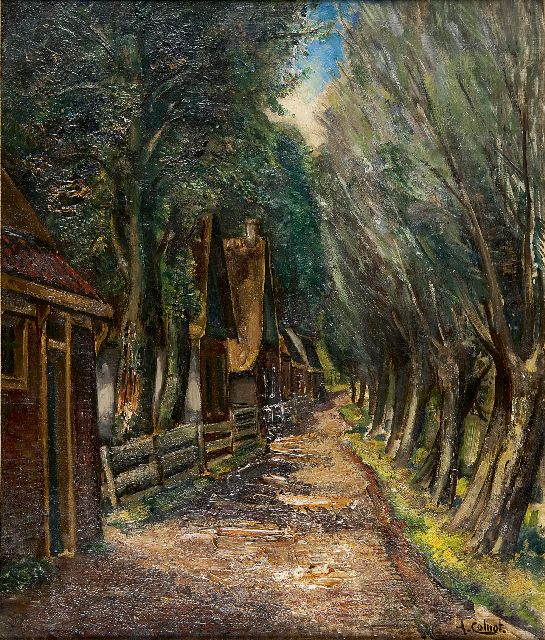 Arnout Colnot | A sandy path with houses, oil on canvas, 60.0 x 50.4 cm, signed l.r.