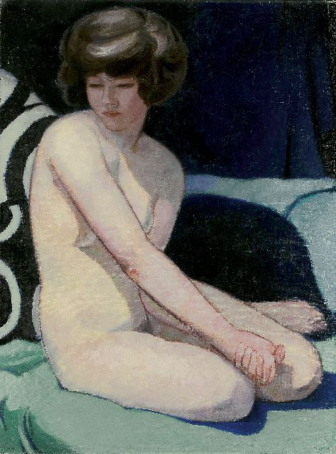 Cornelis Kloos | A seated nude, oil on canvas, 80.2 x 60.2 cm, signed l.r. and dated 1928