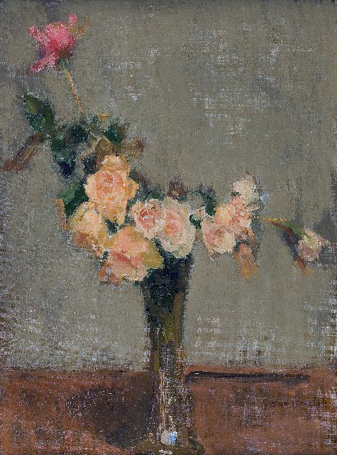 Israels I.L.  | Flower still life, oil on canvas, 40.3 x 30.4 cm, signed l.r.