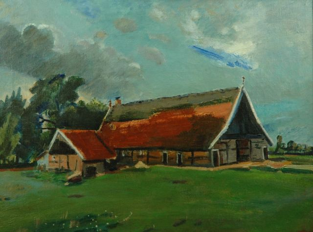Jan Wiegers | Farm in Saasveld, oil on canvas, 46.0 x 61.0 cm, signed l.r. and dated '40