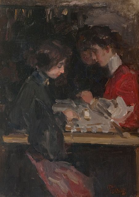 Isaac Israels | The fashion studio, oil on panel, 46.0 x 33.0 cm, signed l.r.