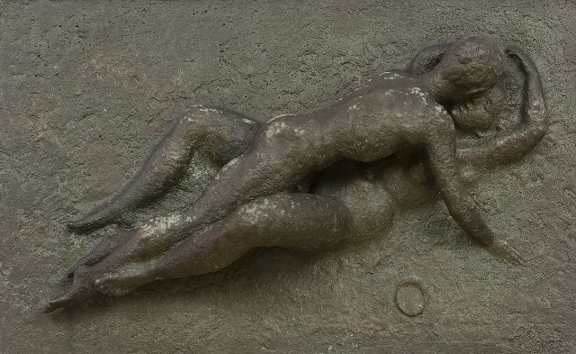 Pieter Starreveld | Lovers, bronze, 26.0 x 41.4 cm, signed with thumb print r.o.t.c. and verso in full and dated Dec. 1962