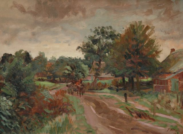 Jan Altink | A country road, Groningen, oil on canvas, 60.3 x 80.0 cm, signed l.r. and dated '43