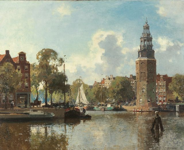 Cornelis Vreedenburgh | The Montelbaans tower, Amsterdam, oil on canvas, 60.0 x 73.9 cm, signed l.r.