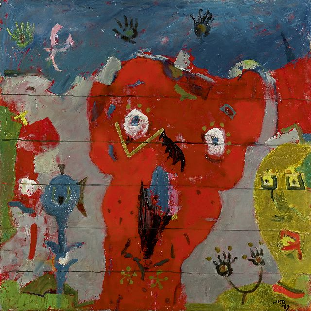 Harm Kamerlingh Onnes | A child's dreamworld, oil on board, 49.4 x 49.8 cm, signed l.r. with monogram and dated '67
