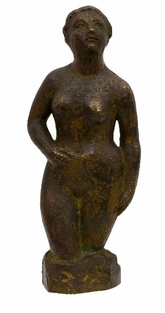 Rädecker J.  | Nude, bronze 24.7 x 10.0 cm, signed with initials 'H.R.' on the base