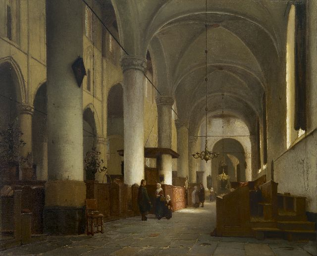 Jan Jacob Schenkel | Interior of the Grote Kerk, Naarden, oil on panel, 51.6 x 62.9 cm, signed l.r.