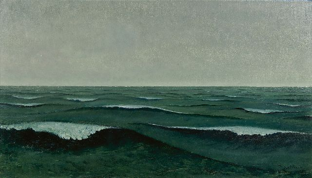 Jo Lodeizen | Seascape, oil on canvas, 45.5 x 79.5 cm, signed l.r. and dated '38