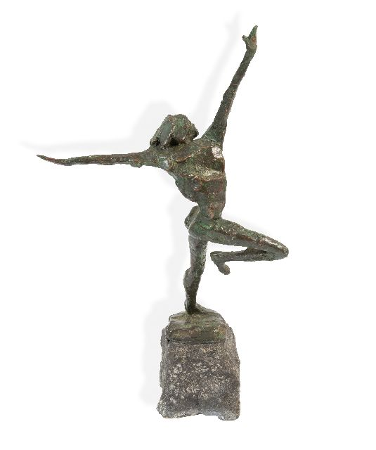 Jits Bakker | One dancer, bronze, 44.9 x 26.8 cm, signed on the base
