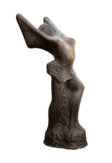 Jits Bakker | Paradise gardens, bronze, 96.0 x 32.5 cm, signed between the feet
