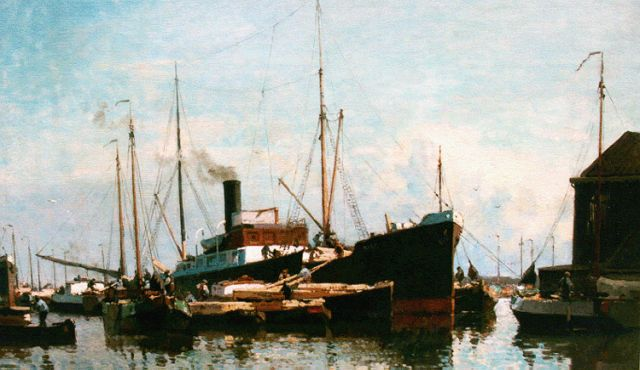 Cornelis Vreedenburgh | Providing the ship, oil on canvas, 60.4 x 90.2 cm, signed l.l. and dated 1928
