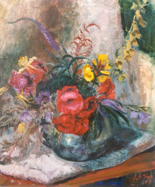 Jan Altink | A flower still life, oil on canvas, 60.2 x 49.8 cm, signed l.r. and dated '43