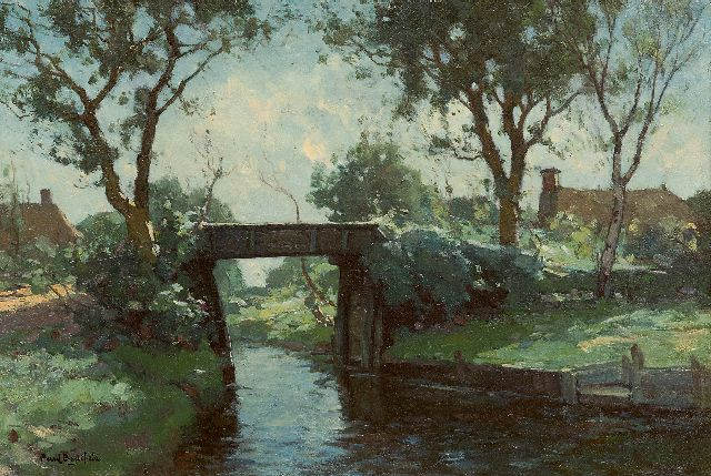 Paul Bodifée | Ditch with a bridge, Giethoorn, oil on canvas laid down on board, 29.4 x 43.3 cm, signed l.l.