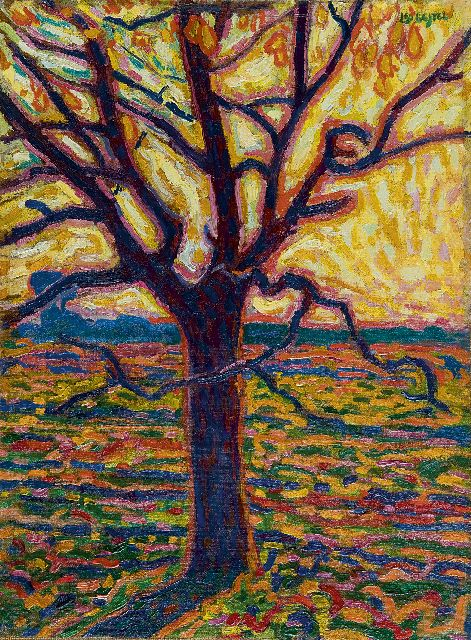 Leo Gestel | A tree in autumn, oil on canvas laid down on board, 52.4 x 38.5 cm, signed u.r. and painted ca. 1909-1910