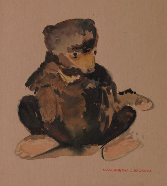 Greta Bruigom | A bear, watercolour on paper, 22.1 x 17.8 cm, signed l.r. with artist's stamp