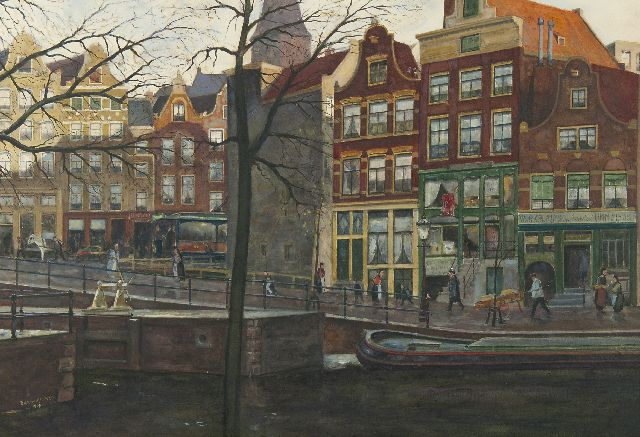 Dirk van Haaren | Prinsengracht, Amsterdam, watercolour on paper, 45.5 x 66.0 cm, signed l.l. and dated 1907