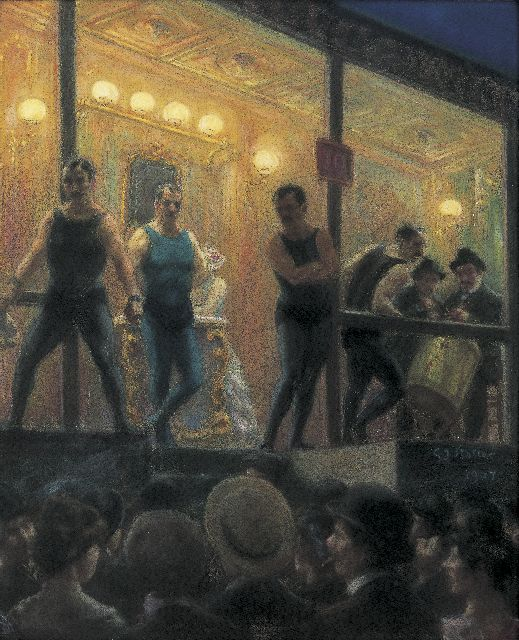 Gerard Johan Staller | The boxing-match, pastel on paper laid down on painter's board, 57.5 x 47.5 cm, signed c.r. and dated 1904