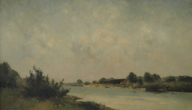 Willem Wenckebach | A river, oil on canvas, 60.3 x 100.5 cm, signed l.l. and dated '36