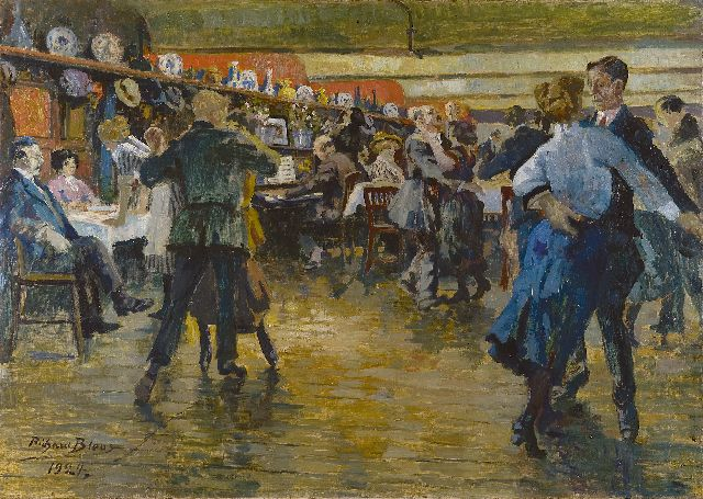 Richard Bloos | Dancing fun, oil on canvas, 79.8 x 113.5 cm, signed l.l. and dated 1924