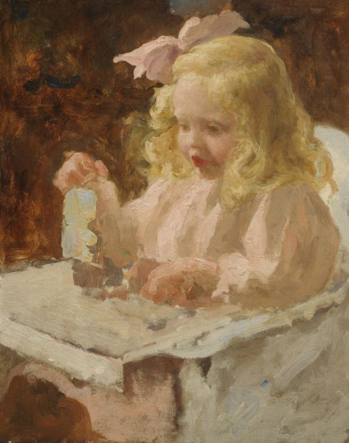 Evert Pieters | Maria Jacoba van Rijckevorsel at the age of 3, oil on panel, 39.8 x 31.8 cm, painted ca. 1913
