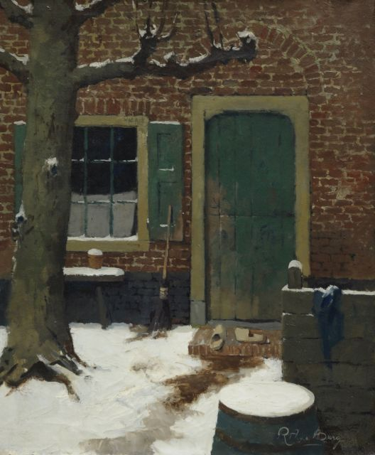 Evert Jan Ligtelijn | Backyard, oil on canvas, 60.4 x 50.4 cm, signed l.r.