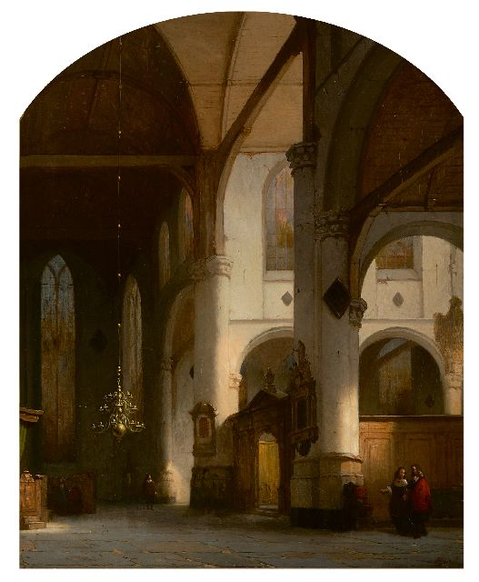 Jan Jacob Schenkel | Interior of St. Janskerk in Gouda, oil on canvas, 52.0 x 44.2 cm, signed l.r. and   verkocht