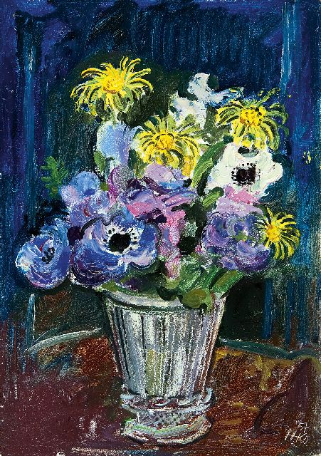 Harm Kamerlingh Onnes | A summer bouquet, oil on board, 24.0 x 17.0 cm, signed l.r. with monogram and dated '57