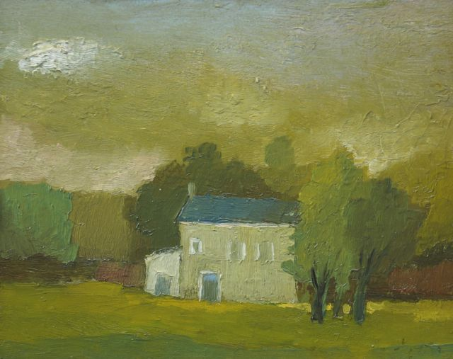 Toon Hermans | Country house, oil on board, 20.0 x 25.0 cm, signed l.r.