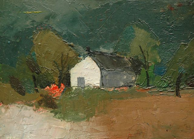 Toon Hermans | Farm house, oil on board, 13.0 x 17.9 cm, signed l.r. (indistinct)
