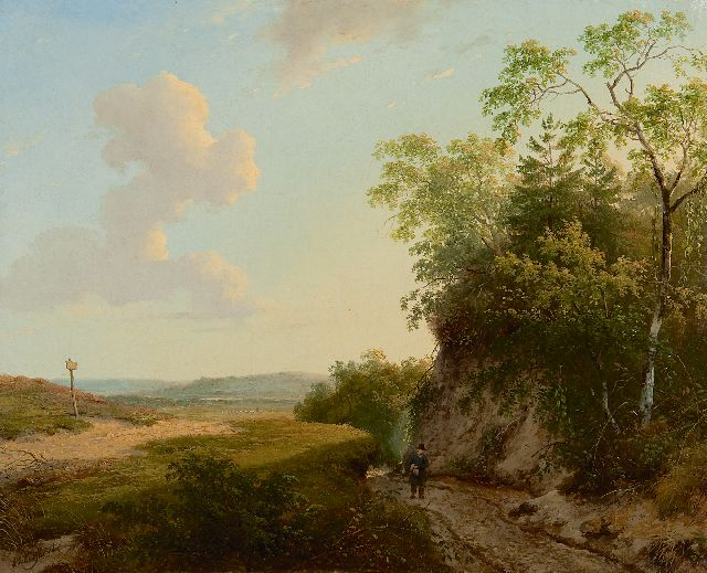 Schelfhout A.  | An extensive summer landscape, oil on canvas 33.6 x 41.3 cm, signed l.l. and painted ca. 1830