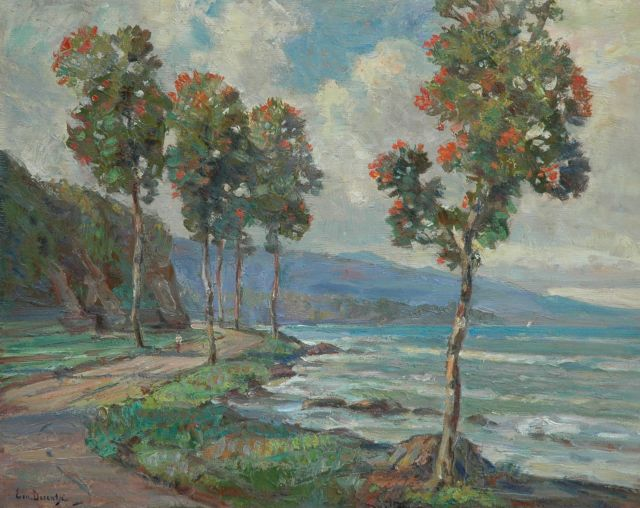 Ernest Dezentjé | Trees at the Indonesian coast, oil on panel, 48.0 x 60.1 cm, signed l.l.