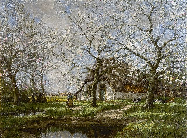 Arnold Marc Gorter |  A farm in spring, oil on canvas, 55.7 x 74.8 cm, signed l.r.