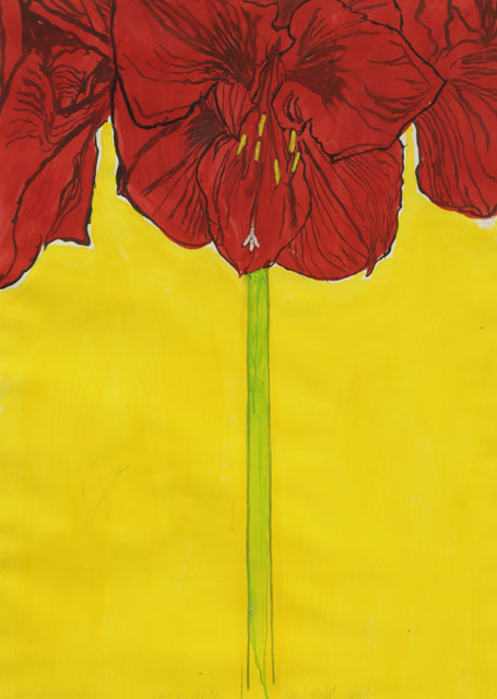 Erik Andriesse | Amaryllis, gouache on paper, 115.0 x 81.0 cm, signed l.c. and dated 1986
