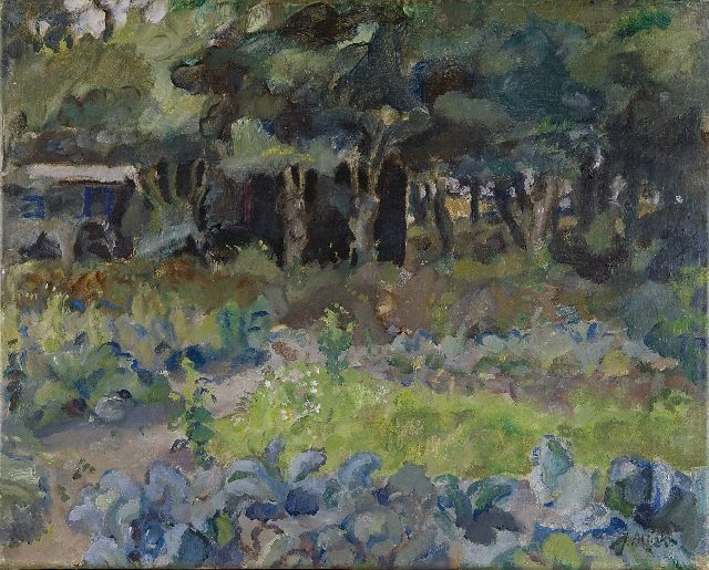 Jan Altink | A kitchen garden with a shed, oil on canvas, 41.5 x 52.4 cm, signed l.r.