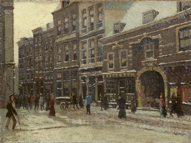 Tinus de Jongh | A view of Amsterdam in winter, oil on canvas, 30.4 x 40.3 cm