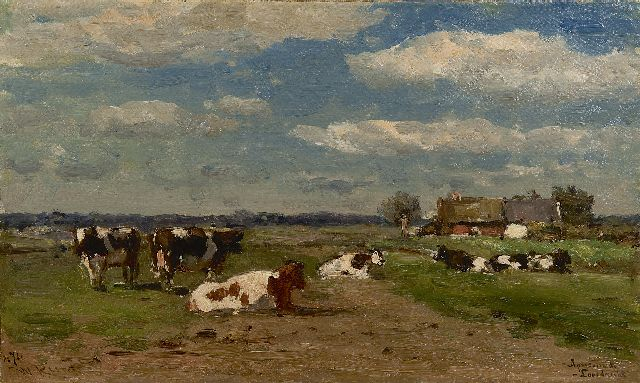 Roelofs W.  | Après-midi, Loosdrecht, oil on canvas, 26.7 x 44.6 cm, signed l.l.